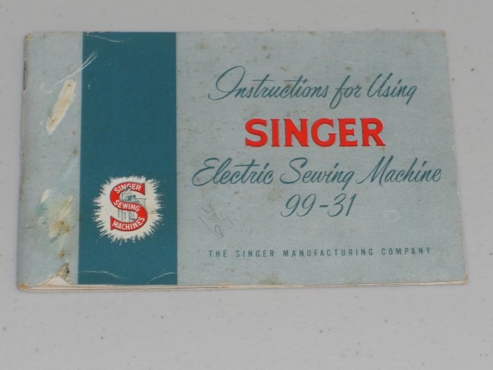 Singer Model 99-31 Instruction Manual