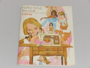 Singer Model 758 Touch & Sew Deluxe Instruction Manual