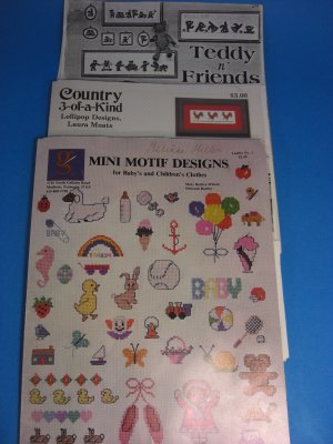 Cross Stitch  Country 3-of-a-Kind Lollipop Designs