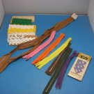 Sewing Lot of Rick Rack and Zippers