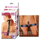 Thigh and wrist cuffs leather pair