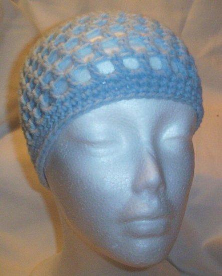 Hand Crochet ~ Ladies Skull Cap ~ Pale Blue