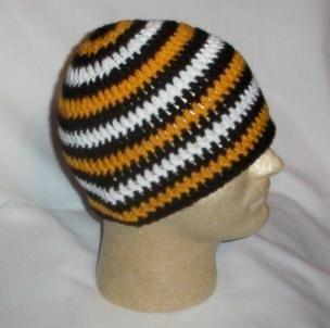 Hand Crochet ~ Sweet Steeler Beanies ~ Unisex - 6