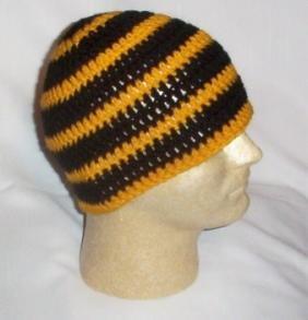 Hand Crochet ~ Sweet Steeler Beanies ~ Unisex - 8
