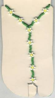 Hand Crafted Beaded Daisy Chain Barefoot Sandals