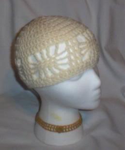 Hand Crochet ~ Ladies Open Cloche Hat - Aran