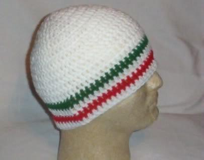 Hand Crochet ~ Men's Skull Cap Beanie Hat Guido Italian C