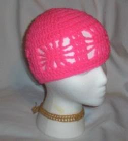 Hand Crochet ~ Ladies Open Cloche Hat - Pretty in Pink