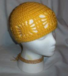 Hand Crochet ~ Ladies Open Cloche Hat - Yellow