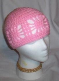Hand Crochet ~ Ladies Open Cloche Hat - Petal Pink
