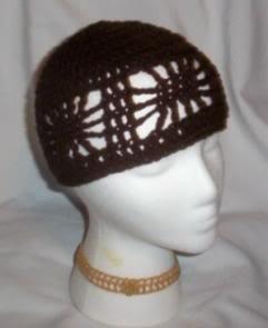 Hand Crochet ~ Ladies Open Cloche Hat - Dark Brown