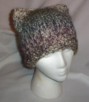 Hand Knit Cat Ears Hat Meooow - Tudor Homespun