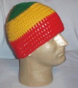 Hand Crochet ~ Men's Skull Cap Beanie Hat Rasta A