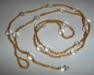 Hand Crafted Beaded Gold and Crystal Belly Chain