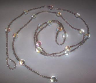 Hand Crafted Beaded Silver and Crystal Belly Chain