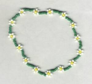 Hand Crafted Beaded Daisy Chain Anklet & Toe Ring