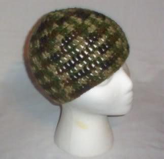 Hand Crochet ~ Ladies Skull Cap ~ Camo