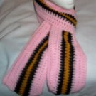Hand Crochet ~Pink Steelers Black N Gold Scarf Scarves