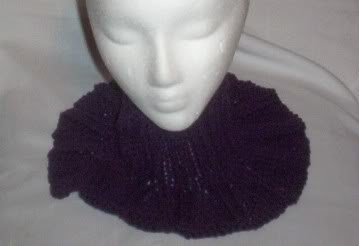 Hand Knit Ladies Purple Grape Buttoned Neckwarmer