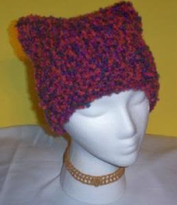 Hand Knit Cat Ears Hat Meooow - Crazy Shades Boucle
