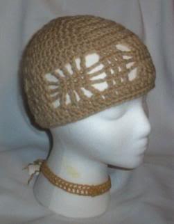 Hand Crochet ~ Ladies Open Cloche Hat - Lace