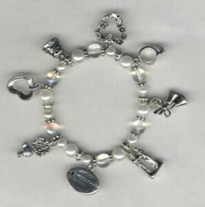 Keepsake Bridal Charm Bracelet or Anklet