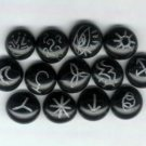 Witches Runes - A set of 13 pictorial runes used for divination.