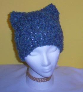 Hand Knit Cat Ears Hat Meooow - Carnival Shade - Boucle