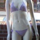 Hand Crochet Peek-a-boo Thong Bikini Set