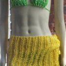 Hand Knit Beach Coverup - Sarong - Hipscarf - Pareo - Ready 2 Ship - Yellow