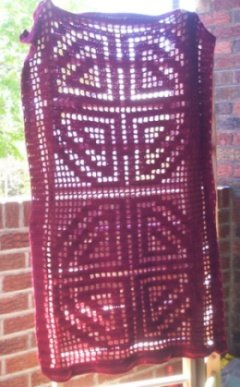 Hand Crochet Witchy Rectangle Longevity - Double Happiness Shawl