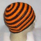Hand Crochet ~ Sweet Beanie ~ Black - Orange - Unisex -
