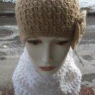 Hand Crochet Ladies Chunky Cowl Neckwarmer Dickie White