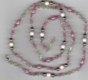 Hand Crafted Beaded Pink Beads
