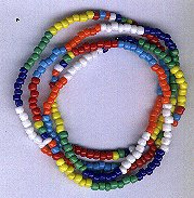 Hand Crafted 7 African Powers Necklace/Bracelet Style A 8 inches Blessed Orisha Santeria