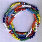 Hand Crafted 7 African Powers Necklace/Bracelet Style A 9 inches - BOGO