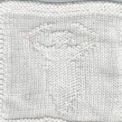Hand Knit White Cotton Goddess Wash Cloth - Blessed Bath