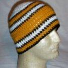 Hand Crochet ~ Steelers Beanie Black N Gold Unisex - 2