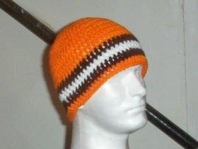 Hand Crochet ~ Cleveland Browns Men's Beanie