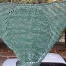 Hand Crochet Witchy Triangle Greenman Shawl - Sage
