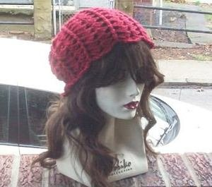 Hand Crochet Ladies Skull Cap Autumn  Slouchy Flower Petal Beanie Chemo Summer