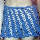 Hand Crochet Beach Coverup - Bikini Skirt - Blue Vacation Cruise Pool Resort
