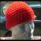Hand Crochet - Men's Summer Mesh Hat - Red - Made 2 Order Chemo Celebrity