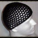 Hand Crochet - Men's Summer Mesh Hat - Black - Made 2 Order Chemo Summer