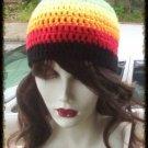 Hand Crochet - Ladies Gay Pride Rainbow Beanie Unisex Chemo