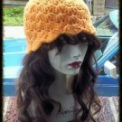 Hand Crochet - Ladies Orange Sherbet Mermaid Beach Hat