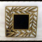 Hand Crafted Brass Leaves Scrying Mirror Divination Psychic OOAK Powerful