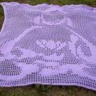 Hand Crochet Lavendar Buddha Lace Panel Blanket Bed Cover Wall Hanging