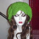 Hand Crochet Summer Super Slouchy Brimmed Hat - Lime Green - Ready 2 Ship