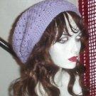 Hand Crochet Summer Super Slouchy Hat - Lavendar - Ready 2 Ship